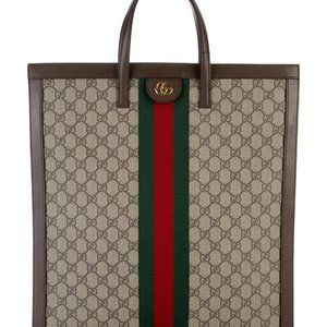 NWT Gucci Ophidia Tote Monogram Supreme Red Green